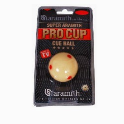 Bille blanche Pro-Cup Aramith 57mm