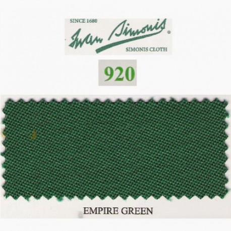 Kit tapis Simonis 920 7ft UK Empire Green