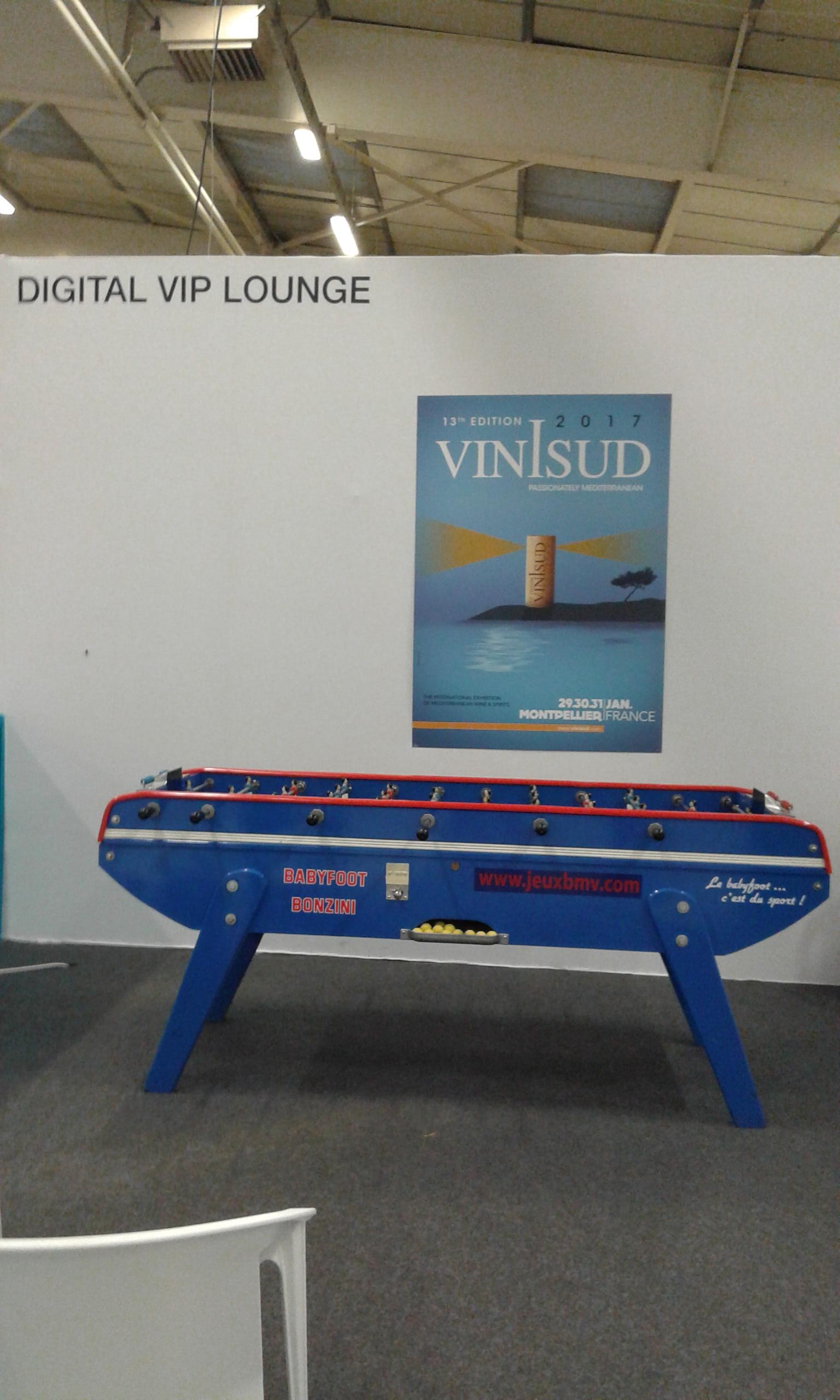 Baby-foot Bonzini B93 Bleu 6 Joueurs - Vinisud - Parc des expositions - Montpellier